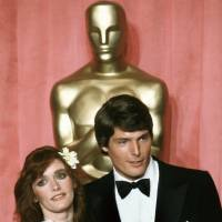 Actress Margot Kidder and actor Christopher Reeve appear at the 51st Annual Academy Awards ceremony in Los Angeles in 1979. Kidder, who starred as Lois Lane in the 'Superman' film franchise of the late 1970s and early 1980s, has died.   AP