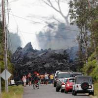 New lava flow advances toward Hawaii geothermal plant