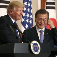 Moon enters talks with Trump with diplomatic driver's seat at stake