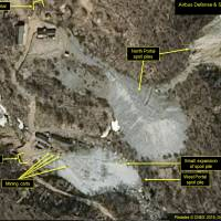 This satellite image released March 30 shows the Punggye-ri nuclear test site in North Korea. The North said Saturday that it will dismantle the site between May 23 and 25, in a dramatic event that would set up leader Kim Jong Un's summit with U.S. President Donald Trump next month.   AP