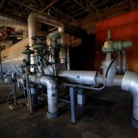 The interior of the Bataan Nuclear Power Plant is seen on May 11.   REUTERS