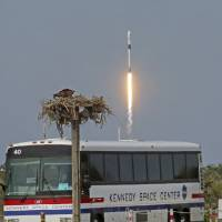 SpaceX launches new rocket designed for future crewed missions