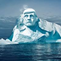 Environmental group looks to carve Trump's face into arctic iceberg