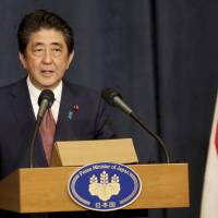 Abe nixes embassy move to Jerusalem, says Japan will bolster contribution to Middle East peace