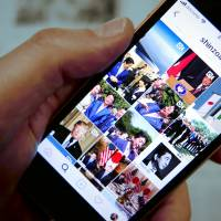 An Instagram post by Prime Minister Shinzo Abe shows an array of humanizing pictures of himself. | THE JAPAN TIMES
