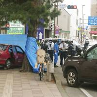 One dead and three injured after driver in her 90s mounts curb in Kanagawa