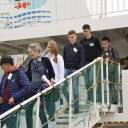 Russian residents of disputed islands off Hokkaido arrive Thursday in Nemuro port on a visa-free trip.