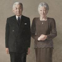 This portrait of Emperor Akihito and Empress Michiko was unveiled Monday by the Imperial Household Agency. | THE IMPERIAL HOUSEHOLD AGENCY / VIA KYODO