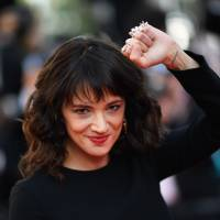 Italian actress Asia Argento arrives on Sunday for the closing ceremony and the screening of the film 'The Man Who Killed Don Quixote' at the 71st edition of the Cannes Film Festival.   AFP-JIJI