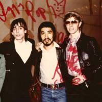 Diamond days: Photographer Masayoshi Sukita (center) poses for a picture with musicians Iggy Pop (left) and David Bowie. | © 2018 'SUKITA' PARTNERS