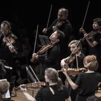 Homecoming: Aiko Goto (second from right, top row) joined the Australian Chamber Orchestra 20 years ago and returns with her colleagues for a pair of concerts at the end of May. | NIC WALKER, AUSTRALIAN CHAMBER ORCHESTRA