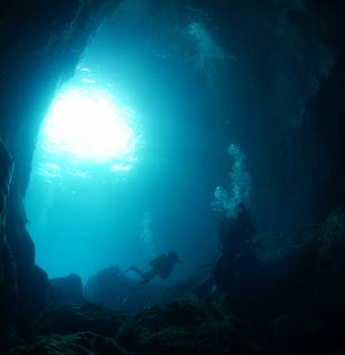 Cave diving: Located in the sea of Japan, the Oki Islands are part of a UNESCO Global Geopark.