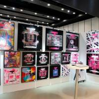 Color abounds: The work of Shane Bowden is displayed at last year's Tokyo International Art Fair. This year's event features work from Takashi Murakami, Keiko Imaizumi and Franco the Creator. | THE GLOBAL ART AGENCY — THE GAA LTD.