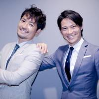 From one bachelor to another: Rintaro Oyaizu (left) will follow in the footsteps of Hirotake Kubo (right) when 