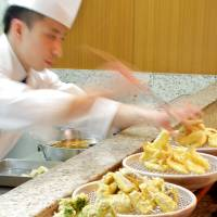 Lunch and dinner menus offer flavors of Oita