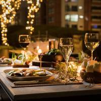 The French Kitchen is offering a Sparkling Terrace plan accompanied by sparkling wine or Champagne.