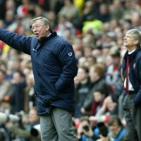 You're Zen and you know you are: Manchester United manager and unwitting Zen disciple Sir Alex Ferguson issues instructions to his team as Arsenal manager Arsene Wenger looks on during their FA Cup semifinal match at Villa Park Stadium, Birmingham, England, in 2004. Man United won 1-0. | AP