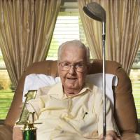 Ben Bender capped his long golf career with a hole-in-one at Green Valley Golf Club in Zanesville, Ohio, in April. Bender, who has hip bursitis, used his 5-wood to make a hole-in-one on the third hole.   CHRIS CROOK / TIMES RECORDER / VIA AP