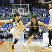 Guard Genki Kojima and his Alvark teammates are chasing a championship. They face the Chiba Jets Funabashi in the B. League title game on Saturday at Yokohama Arena. | B. LEAGUE