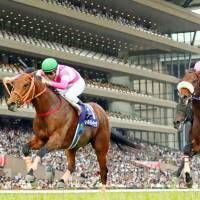 Late-flying Keiai Nautique captures NHK Mile Cup