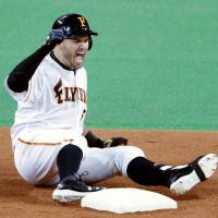 Brandon Laird has endeared himself to fans in Japan in part because of his play for the Fighters. Currently in his fourth season in NPB, Laird has hit 109 home runs and recorded 296 RBIs. | KYODO