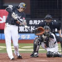 Yuki Yanagita bangs out three hits to propel Hawks past Marines on windswept afternoon