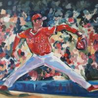 British artist Andy Brown captures essence of baseball through paintings
