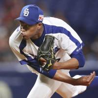 Dragons rookie Raidel Martinez records first NPB victory