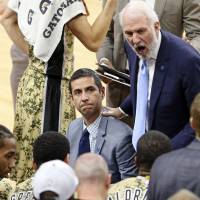 San Antonio Spurs assistant coach James Borrego (left) has been hired as the new bench boss of the Charlotte Hornets. | AP