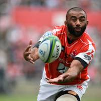 Sunwolves' flanker Michael Leitch and his Sunwolves teammates play the Cape Town-based Stormers at Mong Kok Stadium in Hong Kong on Saturday. | AFP-JIJI