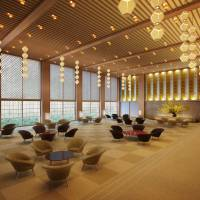 Hotel Okura plans to reopen in September 2019, with its distinctive main lobby fully restored