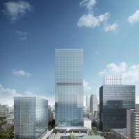 A digital rendering shows the two buildings of The Okura Tokyo that will open in September 2019. | TANIGUCHI AND ASSOCIATES