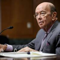 Commerce Secretary Wilbur Ross attends a Senate Finance Committee session discussing U.S. President Donald Trump administration's imposing of tariffs on steel and aluminum in Washington Wednesday. | GETTY IMAGES / VIA KYODO