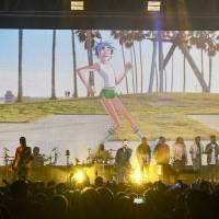 Feel good: Gorillaz premiered its new album 'The Now Now' at Zepp DiverCity in Tokyo on June 22. | TEPPEI KISHIDA