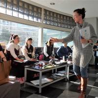 Class in session: Australian filmmaker Genevieve Clay-Smith holds a workshop in Tokyo on Jan. 14, 2018, for people with Down syndrome helping with her film, 'Shakespeare in Tokyo.' | KYODO