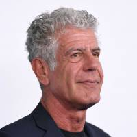 Anthony Bourdain attends the Turner Upfront 2017 at The Theater at Madison Square Garden in New York City in May 2017. Bourdain has committed suicide, according to CNN, the TV network for which he took viewers around the world through his 'Parts Unknown' series. He was 61. | AFP-JIJI