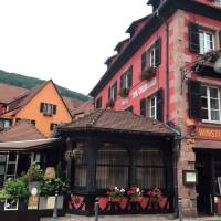 A general view is seen of the Le Chambard hotel where TV chef Anthony Bourdain was found dead, in Kaysersberg, France, Friday. | AP