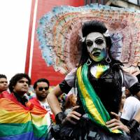 Huge Sao Paulo parade celebrates gay pride in Brazil, focuses on elections