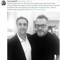 Photo of former Trump attorney Michael Cohen with comedian hunting recordings of president fuels speculation