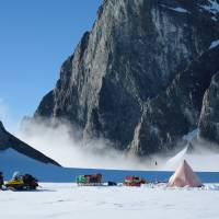 This 2011 photo provided by researcher Hamish Pritchard shows a two-man British Antarctic Survey field camp on Alexander Island off the Antarctic Peninsula.  In a study released Wednesday, June 13, 2018, an international team of ice experts said the melting of Antarctica is accelerating at an alarming rate, with about 3 trillion tons of ice disappearing since 1992. | HAMISH PRITCHARD / BRITISH ANTARCTIC SURVEY / VIA AP