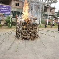 Laos torches narcotics stockpile on World Drug Day but 'Golden Triangle' flow continues