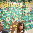 U.S. First Lady Melania Trump and Health and Human Services Secretary Alex Azar take part in a roundtable discussion at Luthern Social Services of the South's Upbring New Hope Children Center in McAllen, Texas, Thursday.