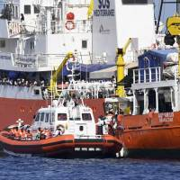 Mediterranean migrant impasse divides Europe as Italy escorts rescue boat with 629 aboard to Spain