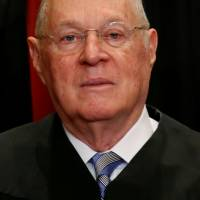 U.S. Supreme Court Justice Anthony Kennedy participates in a photo session with his fellow justices at the Supreme Court building in Washington on June 1, 2017. | REUTERS