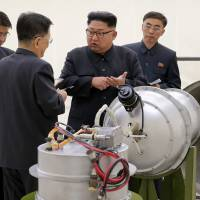 North Korean leader Kim Jong Un visits a nuclear weapons site in this undated photo released Sept. 3., 2017. | AP