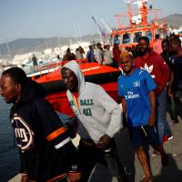 Over 600 EU-bound migrants saved off Spain, including trio aboard kayak: rescuers