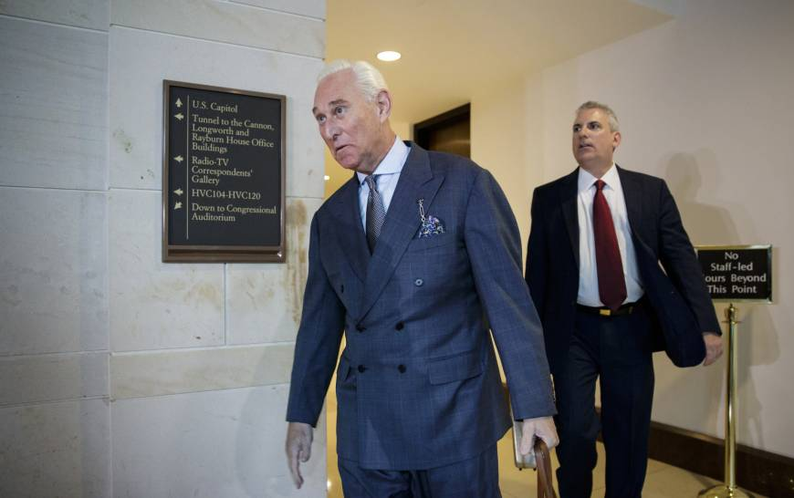 Trump adviser Roger Stone reveals new meeting with Russian offering to sell dirt on Hillary Clinton