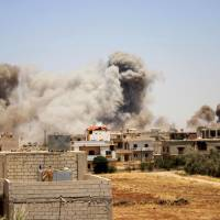 Regime-allied airstrikes kill five civilians as southern Syria assault looms