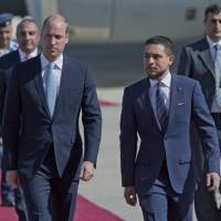 Prince William on historic Mideast trip, praises U.K.-Jordan ties
