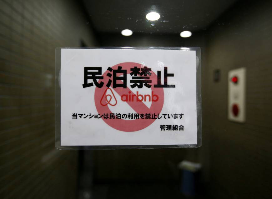 Airbnb users face summer crunch as Japan seeks delisting of unlicensed lodgings